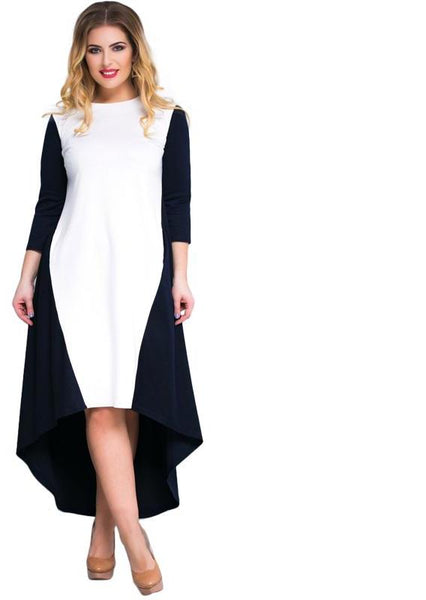 avant Plus Size colorblock Dress Women Clothing Party Maxi midi mixi color block - WomensPlusSizeShop dress