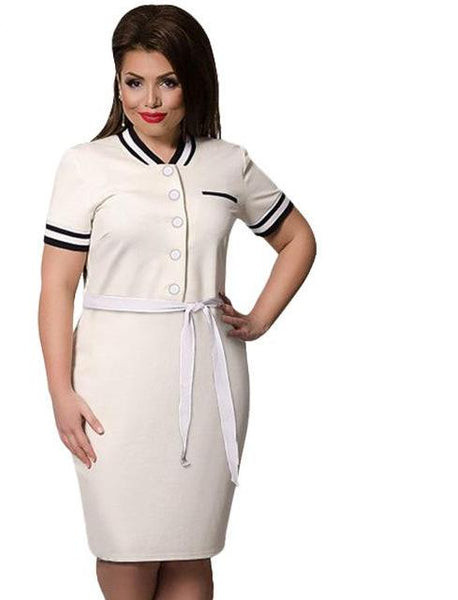 coed letterman Plus Size Dress bodycon Casual stripes Women Clothing burgundy navy blue white - WomensPlusSizeShop dress