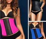 kim plus size Latex Waist Trainer corset Fajas Colombiana 3 Hook Shaper Cincher - WomensPlusSizeShop lingerie