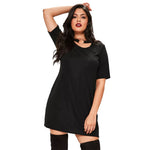 kylie Plus Size black choker Collar Dress Women - WomensPlusSizeShop dress