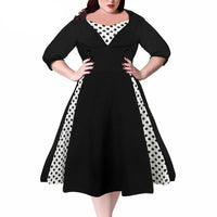 merman Plus Size Dress Midi Swing rockabilly - WomensPlusSizeShop dress