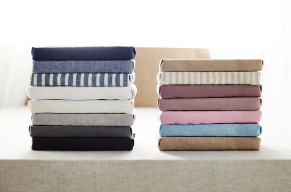 Samples linen fabric colors - 18 colors available -linen colors -pure linen -soft linen fabrics - stonewashed linen fabrics