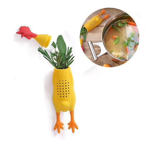 Safe Silicone Chicken Herb Infuser