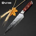 "XITUO 8""inch japanese kitchen knives 67 layers japan damascus vg10 chef knife Utility Meat Vegetable Multi Cleaver cooking tools"