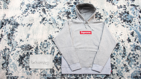 grey supreme box logo hoodie replica