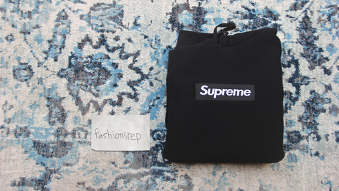 fake black supreme box logo hoodie