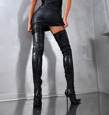 made to measure handmade thigh high boots