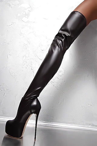 real leather thigh high boots