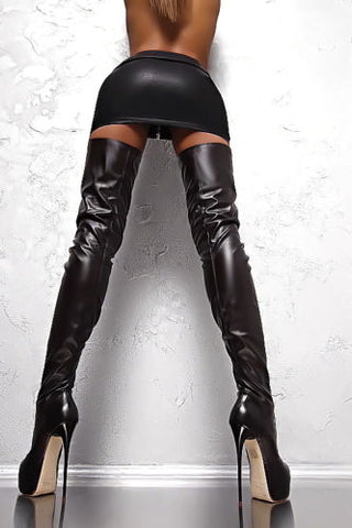 made to measure thigh high boots