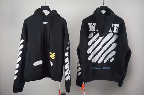 fake off white diagonal spray hoodie replica