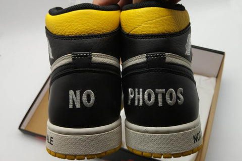 air jordan 1 not for resale yellow replica