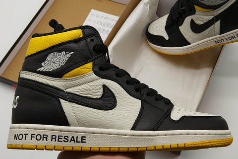 online store 881e5 fdacf Air Jordan 1 Not For Resale Maize Black Yellow