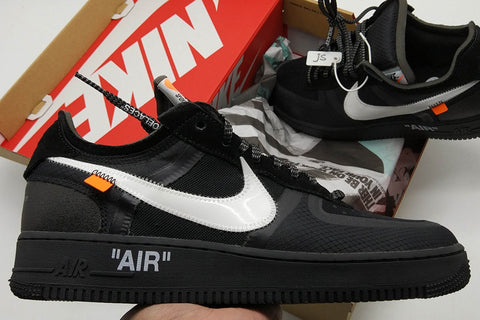fake off white air force 1 black