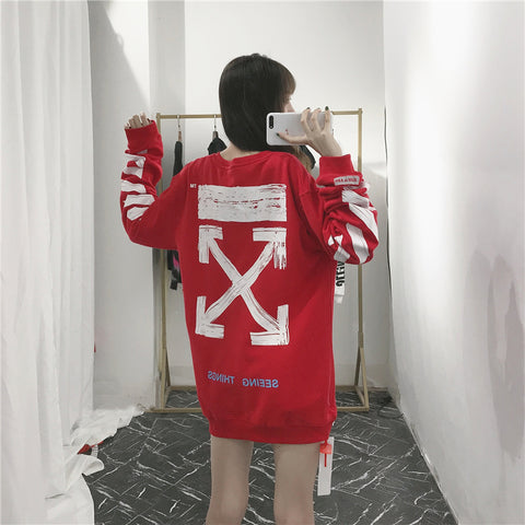 OW Off White red Crewneck
