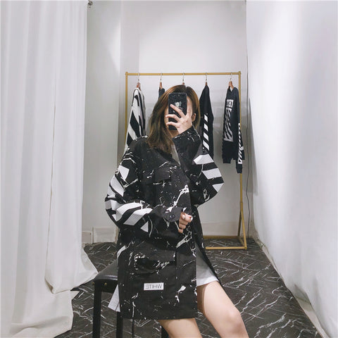Copy Off White Marble Camo Jacket