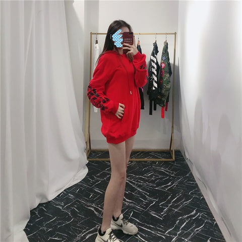 Off White Impression Hoodie red