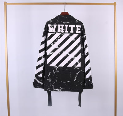 true Off White Marble Camo Jacket