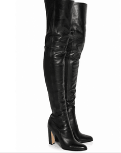 Chunky Heels thigh high boots - FashionsRep