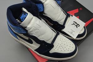 PK Air Jordan 1 Sail Obsidian Blue - FashionsRep