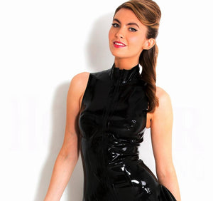 Sexy Night Club PVC Glossy Dress - FashionsRep