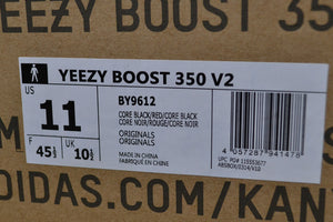 PK God Yeezy Boost 350 V2 Black Red - FashionsRep