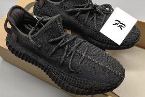 PK God Yeezy Boost 350 V2 Static Black Reflective - FashionsRep