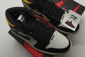 Air Jordan 1 Not For Resale  Maize Black Yellow - FashionsRep