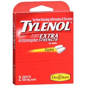 On the Go Tylenol Extra Strength 500 mg Pain Relief Mountainside-Healthcare.com Acetaminophen, disaster relief supplies, Headache Relief, menstrual cramps, Pain Relief, pain reliever