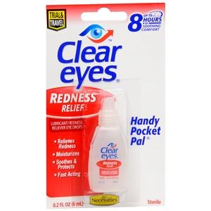 Clear Eyes Redness Relief Handy Pocket Pal Lubricant Eye Drops Mountainside-Healthcare.com burning eyes, clear eyes, disaster relief suuplies, Dry eye relief drops, eye redness, first aid supplies