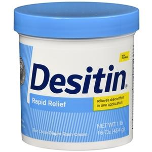 Desitin Rapid Relief Cream Large Jar Diaper Rash Moisture Barrier Mountainside-Healthcare.com Desitin, Desitin Rapid Relief, diaper rash, Skin Barrier Cream