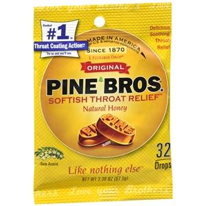 Buy Pine Bros. Softish Throat Drops, Natural Honey online used to treat Sore Throat Relief - Medical Conditions