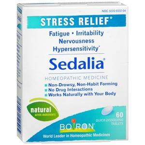 Boiron Sedalia Stress Relief Tablets Stress Relief Mountainside-Healthcare.com Anti-Fatigue, Homeopathic Remedy, Hypersensitivity Relief, Mental Health, Stress Relief