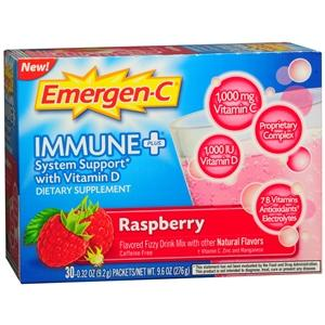 Emergen-C Immune+, Raspberry, Effervescent Tablets Immune System Support Mountainside-Healthcare.com Emergen-C, Immune System Support, Vitamin C, Vitamin D