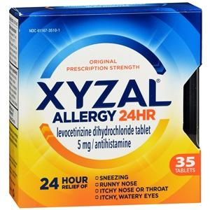 Xyzal Allergy 24 HR Allergy Relief Mountainside-Healthcare.com 24 hour relief, Allergy, allergy medicine, Allergy Relief, hay fever, Xyzal