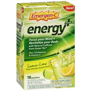 Buy Emergen-C Energy+ Lemon Lime Drink Mix Packets online used to treat Nutrition Supplement - Medical Conditions