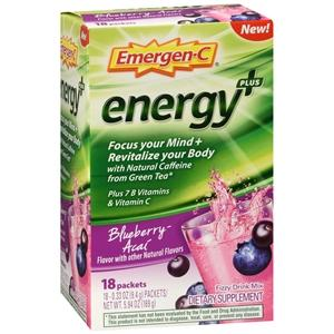 Buy Emergen-C Energy+ Blueberry Acai Drink Mix Packets online used to treat Nutrition Supplement - Medical Conditions