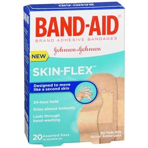 Band-Aid Skin-Flex, Assorted Sizes Adhesive Bandages Mountainside-Healthcare.com band aids, bandages, first aid