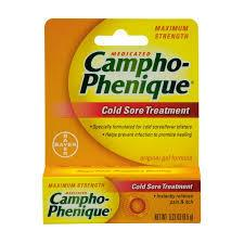 Campho-Phenique Medicated Cold Sore Treatment, Maximum Strength Gel, 0.23 oz Cold Sores Mountainside-Healthcare.com Campho-Phenique, Camphophenique, Cold sore treatment, fever blister treatment, itch relief