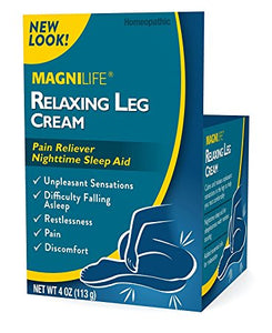 MagniLife Relaxing Leg Cream, 4 oz Jar Pain Relief Mountainside-Healthcare.com leg aches, leg discomfort, leg pain, restless leg syndrome, restless legs, RLS