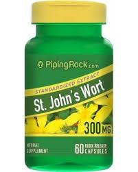 St. John's Wort 300 mg 60 Capsules by Piping Rock Depression Mountainside-Healthcare.com Depression, Hypericum perforatum 300mg, Mood health, St Johns Wort