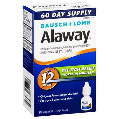 Alaway 12 Hour Eye Itch Relief Eye Drops Itchy Eye Relief Drops Mountainside-Healthcare.com Alaway, Bausch & Lomb, Dry eye relief drops, Itchy Eyes, Relieve itching eyes