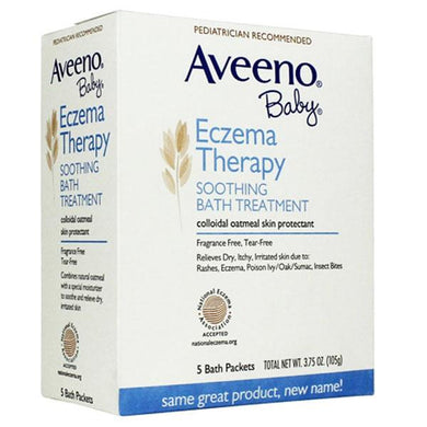 Aveeno Baby Eczema Soothing Bath Therapy Treatment, 5 Bath Packets Eczema Bath Treatment Mountainside-Healthcare.com Aveeno, Aveeno Baby Eczema Soothing Bath Therapy, Bath Treatment, Eczema Skin Treatment, hypoallergenic