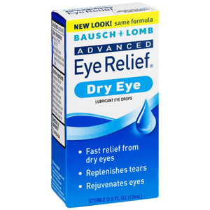 Bausch Lomb Advanced Dry Eye Relief Lubricating Eye Drops Dry Eye Relief Drops Mountainside-Healthcare.com Bausch & Lomb, Dry Eye Drops, Treat dry eyes