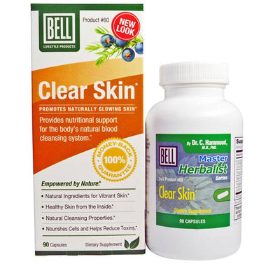Bell Lifestyle Clear Skin Detoxifier Capsules Clear Skin Medication Mountainside-Healthcare.com Acne Medicine, Bell Lifestyle Products, Clear Skin Medication, Skin Detoxifier, Supplement for Healthy Skin