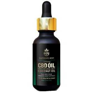 CBD Oil 1200mg with MCT Coconut Oil by Emperors Best