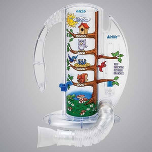 CareFusion AirLife Volumetric Incentive Spirometer with One-Way Valve 2500mL Incentive Spirometers Mountainside-Healthcare.com CareFusion AirLife, Volumetric Incentive Spirometer