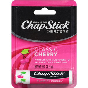 ChapStick Classic Cherry Flavored Lip Balm Lip Balm Mountainside-Healthcare.com Chapped Lips, Chapstick, Cherry Chapstick, Lip Balm