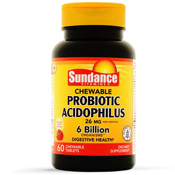 Chewable Probiotic Acidophilus 6 Billion Organisms, 60 Count Probiotic Mountainside-Healthcare.com 6 Billion Organisms, Chewable Probiotic, Digestive Health, Piping Rock Health Products, Probiotic, Sundance