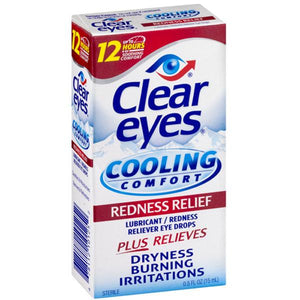 Clear Eyes Cool Comfort Redness Relief Eye Drops Redness Relief Eye Drops Mountainside-Healthcare.com Clear Eyes, Lubricating Eye Drops, Redness Relief
