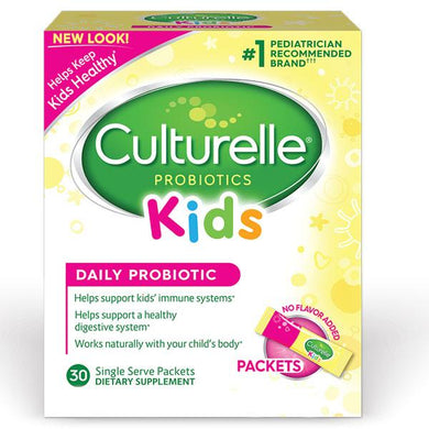Culturelle Kids Daily Probiotic Packets with Lactobacillus GG Probiotic Mountainside-Healthcare.com Culturelle Probiotic, Digestive Health, Kids Probiotic, Lactobacillus bacteria, Probiotic Packets